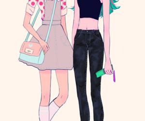 anime, fashion, and anime girl image