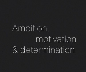 ambition, determination, and fitness image