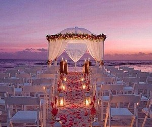wedding, beach, and love image