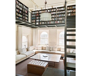 architecture, bedroom, and books image