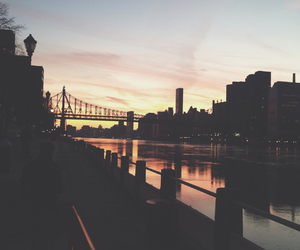 sunset, bridge, and city image