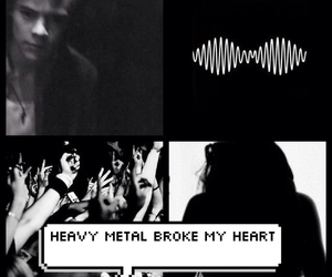 arctic monkeys, dark, and heavy metal image