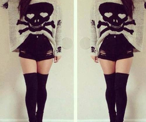 outfit, black, and skull image