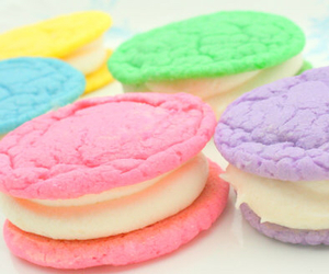 pastel, pink, and Cookies image