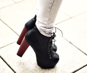 cute, black, and shoes image