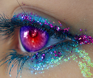 eye, eyes, and glitter image