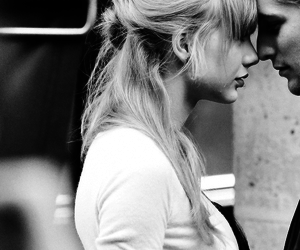 bangs, black and white, and music video image