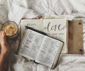 coffee, book, and bible image