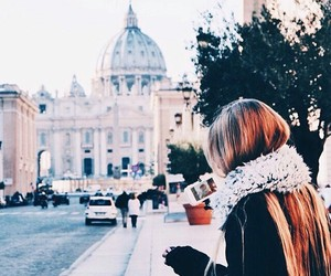 girl, travel, and love image