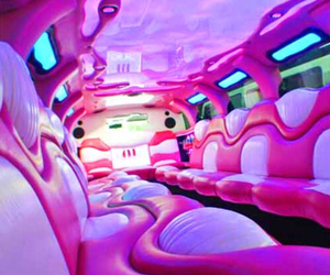 limo, pink, and car image