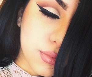 eyes, makeup, and lips image