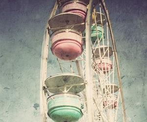 vintage, pastel, and ferris wheel image