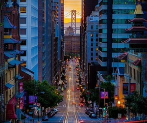 city, san francisco, and light image