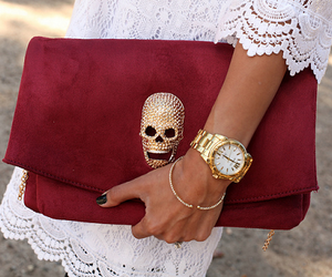 fashion, red, and skull image