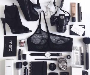 black, makeup, and fashion image