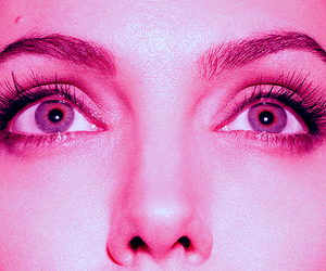 Angelina Jolie, eyes, and pink image