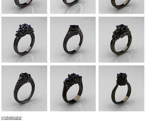 black, rings, and gold image