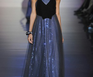dark, dress, and Giorgio Armani image