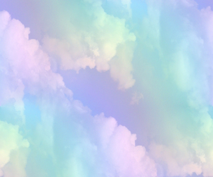 clouds, rainbow, and pastel image