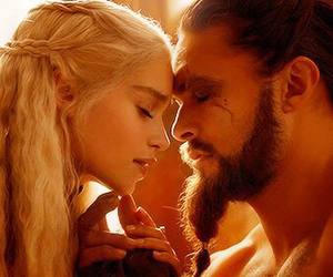 game of thrones, khal drogo, and daenerys targaryen image