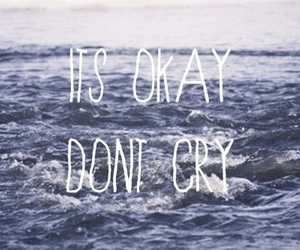 cry, quote, and sea image