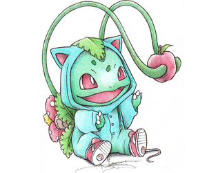 pokemon, drawing, and bulbasaur image