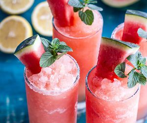 drink, watermelon, and food image