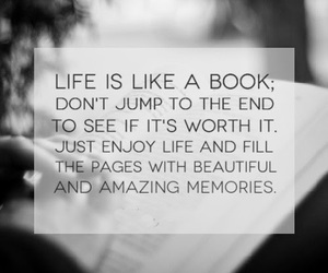 life, book, and quote image