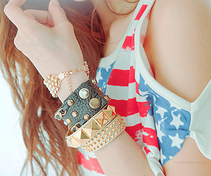 girl, fashion, and bracelet image