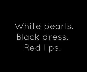 dress, pearls, and black dress image