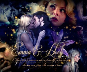 once upon a time, hook, and captain swan image