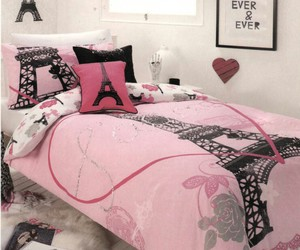 bedroom, pink, and paris image