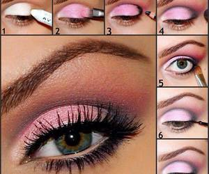 glitter, make up, and step by step image