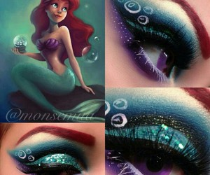 ariel, makeup, and make up image