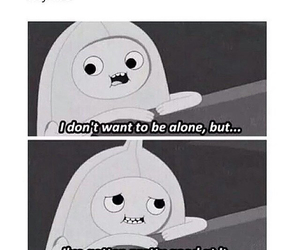 alone, adventure time, and sad image