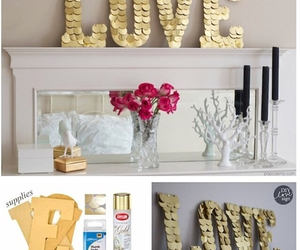 decoration, diy, and gold image