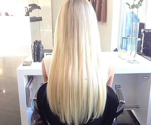 blonde, hair, and luxury image