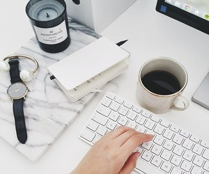 white, coffee, and computer image