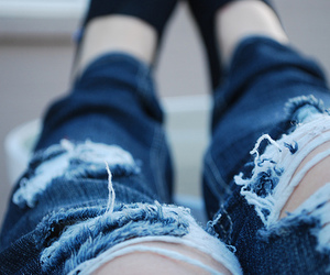 jeans, legs, and ripped image