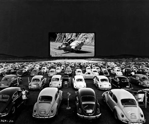 car, black and white, and vintage image