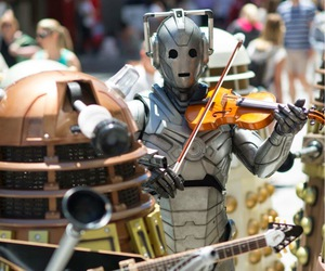 doctor who, Dalek, and music image