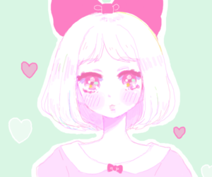 anime, art, and pink and blue image