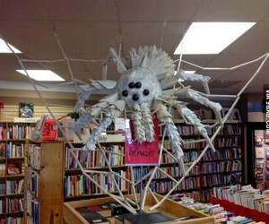 creative, Halloween, and library image