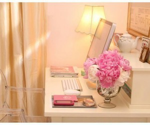pink, flowers, and room image