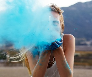 blue and girl image