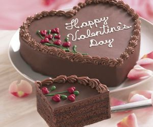 cake, heart, and valentines day image