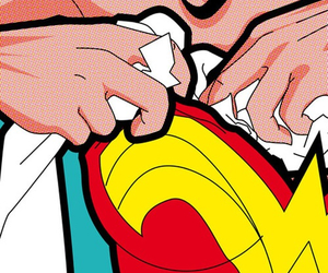 wonder woman, pop art, and comic image