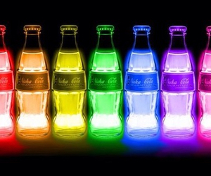 coke, drink, and light image