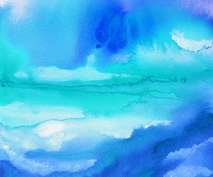 blue and watercolor image