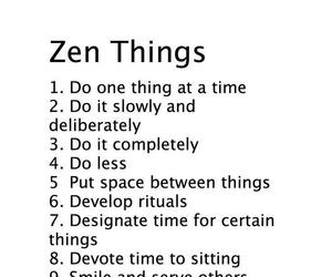 zen, list, and text image